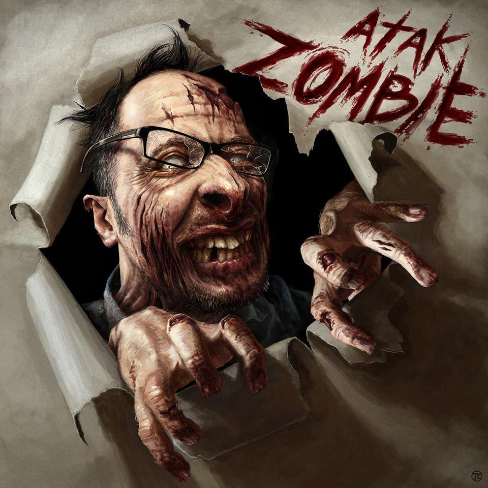 Atak Zombie - okładka autorstwa Tomka Larka przedstawia...